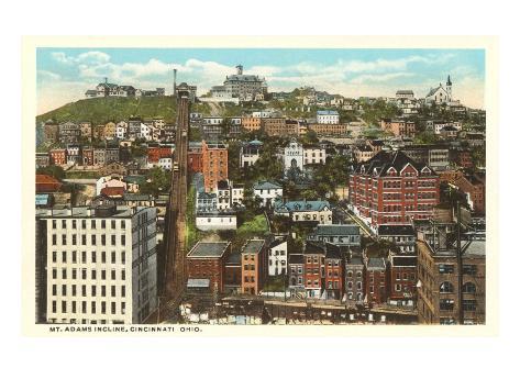 Mt. Adams Incline, Cincinnati, Ohio Art Print