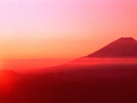 Mt. Fuji at Sunrise Photographic Print