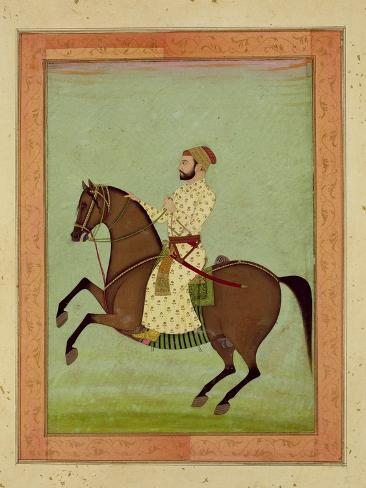 A Mughal Noble on Horseback, C.1790, from the Large Clive Album Giclee Print
