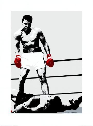 Muhammad Ali: Gloves Art Print