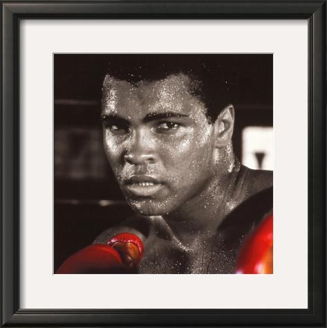 Muhammad Ali: Gloves Framed Art Print