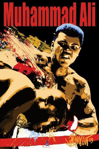 Muhammad Ali Sting Blacklight Poster