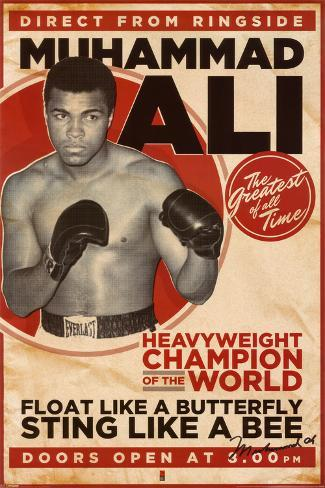 Muhammad Ali, vintage Póster