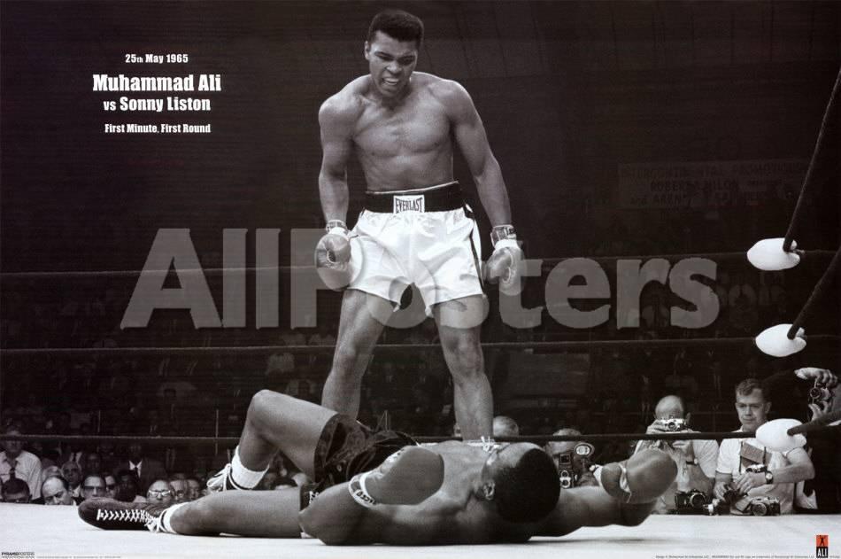 d8a64c71 Muhammad Ali vs. Sonny Liston Print at AllPosters.com
