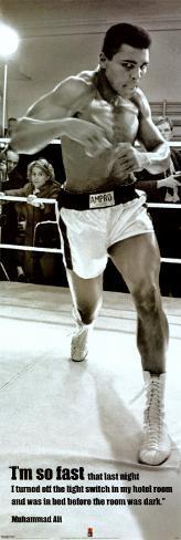 Muhammad Ali Póster para puerta