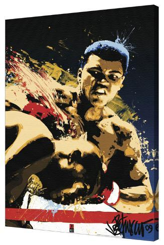 Muhammed Ali - Sting Stretched Canvas Print