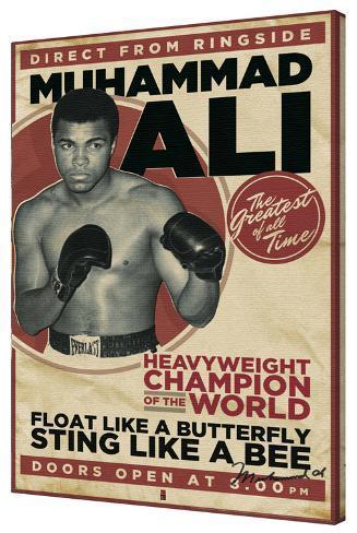 Muhammed Ali - Vintage Stretched Canvas Print