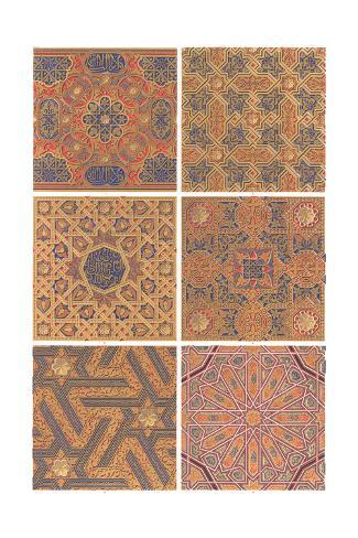 Multiple Arabesque Patterns Art Print