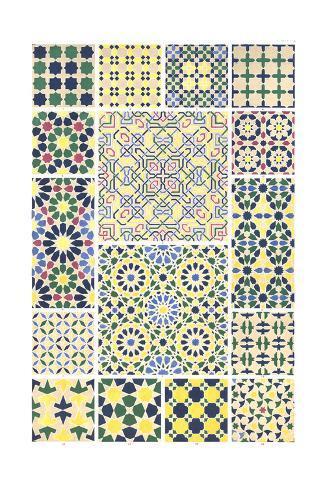 Multiple Geometric Patterns Art Print