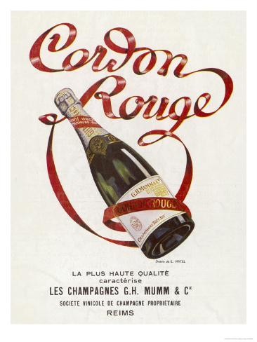 Mumm's Cordon Rouge Champagne Giclee Print