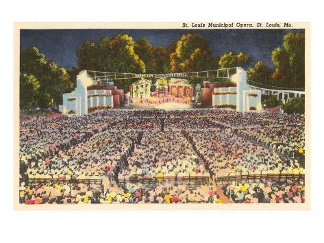 Municipal Opera, St. Louis, Missouri Art Print