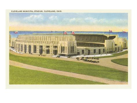 Municipal Stadium, Cleveland, Ohio Art Print