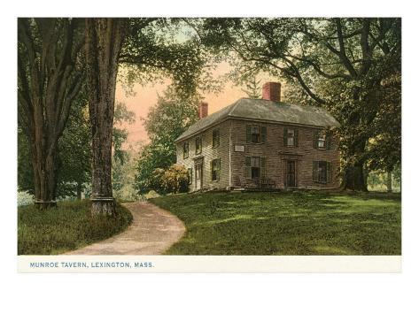 Munroe Tavern, Lexington, Mass. Art Print