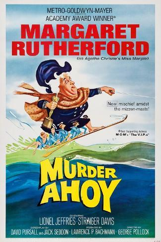 Murder Ahoy, Margaret Rutherford, 1964 Art Print