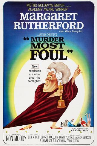 Murder Most Foul, Margaret Rutherford, 1964 Art Print