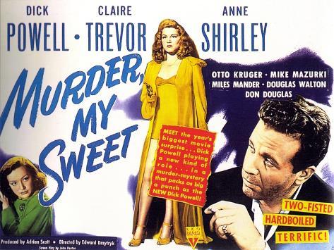 Murder My Sweet, 1944 Art Print