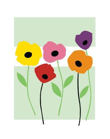 Perky Poppies Giclee Print