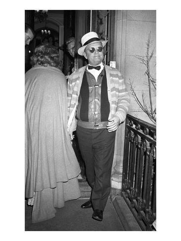 WWD - April 1972 - Dinner to honor Charlie Chaplin Photographic Print