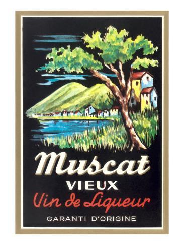 Muscat Liqueur Label Art Print
