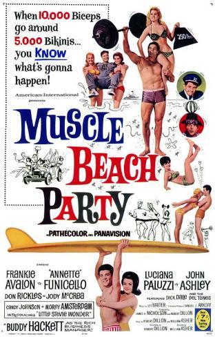 Muscle Beach Party Masterprint