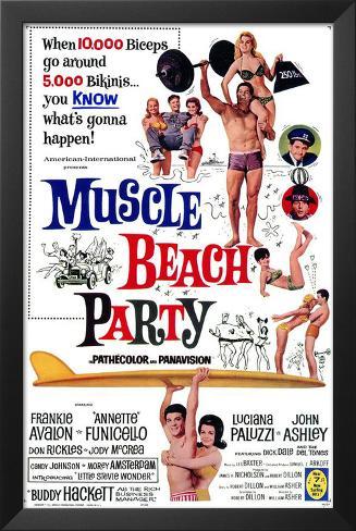 Muscle Beach Party Framed Art Print