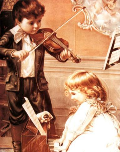Music Lesson (Children Playing) Mini Poster