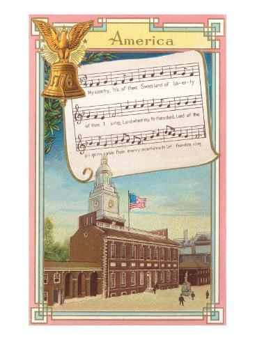 Music to America, My Country 'Tis of Thee Art Print