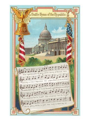 Music to Battle Hymn of the Republic Art Print