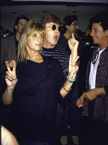 Musician Paul Mccartney and Wife Linda Premium Photographic Print