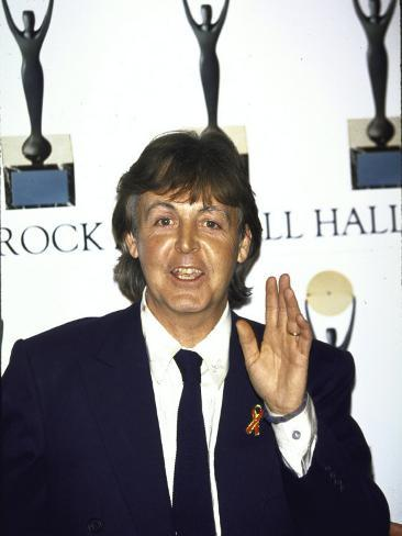 Musician Paul Mccartney at the Rock and Roll Hall of Fame Premium Photographic Print