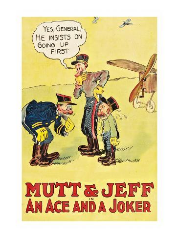Mutt and Jeff - an Ace and a Joker アートプリント