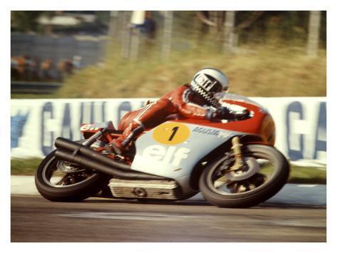 MV Agusta GP Motorcycle Giclee Print