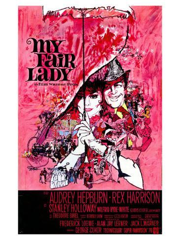 My Fair Lady, Belgian Movie Poster, 1964 Art Print