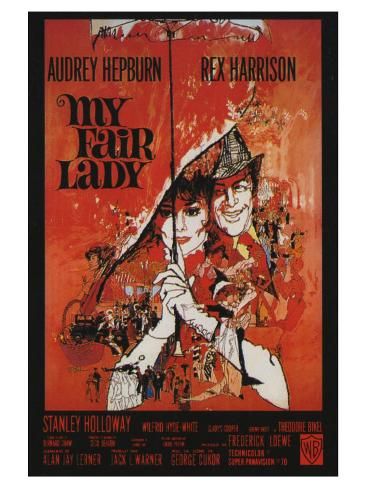 My Fair Lady, French Movie Poster, 1964 Lámina