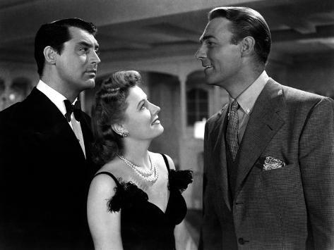 My Favorite Wife, Cary Grant, Irene Dunne, Randolph Scott, 1940 Photo