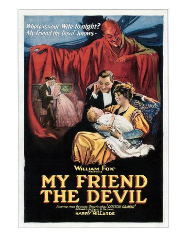 My Friend The Devil - 1922 Giclee Print
