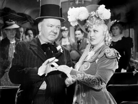 My Little Chickadee, W.C. Fields, Mae West, 1940 Photo