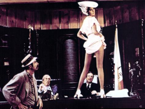 Myra Breckinridge, Roger C. Carmel, John Huston, Raquel Welch, Robert P. Lieb, 1970 Photo
