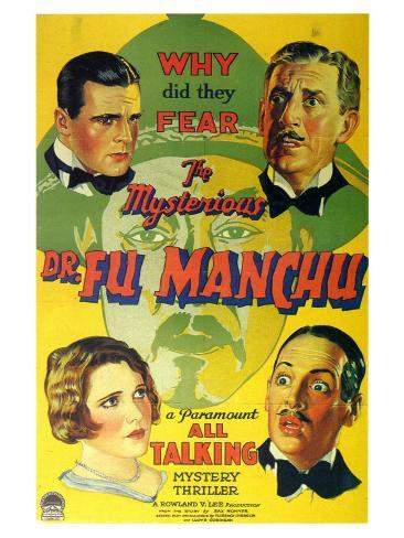 Mysterious Dr Fu Manchu, 1929 Art Print