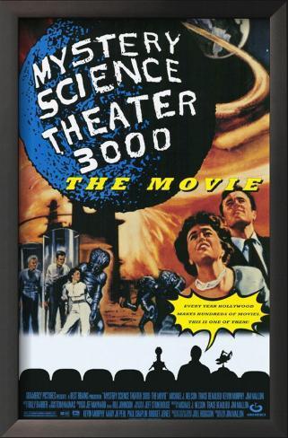 Mystery Science Theater 3000 Impressão artística emoldurada
