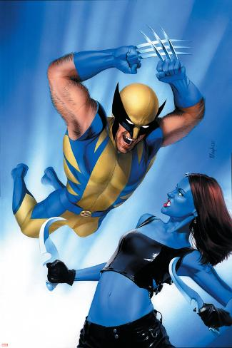 Mystique No.23 Cover: Wolverine and Mystique Poster