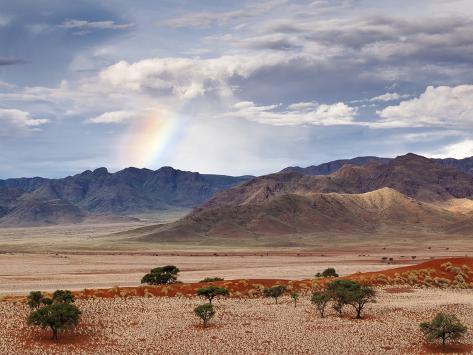 Rainbow, Namibia, Africa Photographic Print