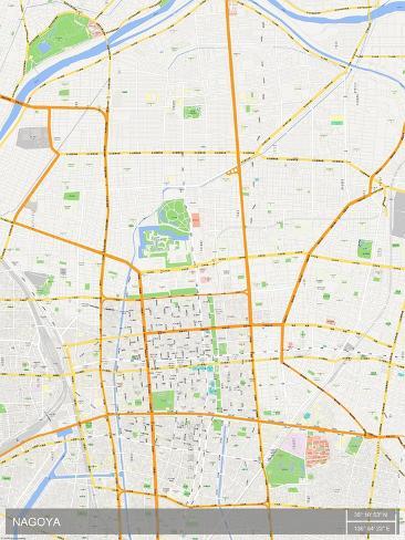 Nagoya, Japan Map Print - AllPosters.co.uk