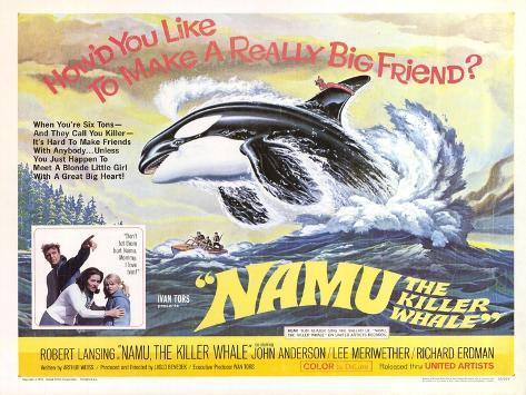 Namu, The Killer Whale, 1966 Stampa artistica