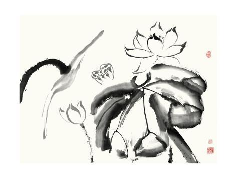 Lotus Study III Premium Giclee Print