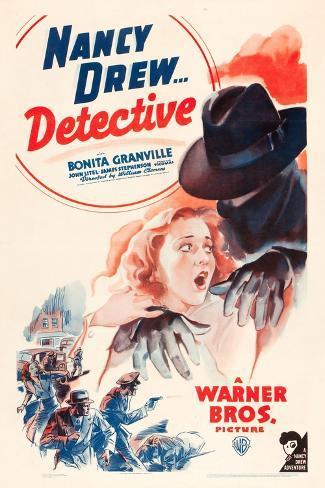 Nancy Drew: Detective, Bonita Granville on poster art, 1938 Lámina giclée prémium