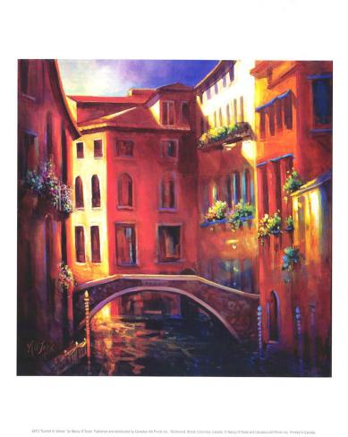 Sunset in Venice Art Print