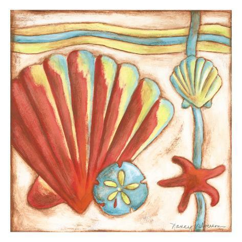 Pop Shells II Art Print