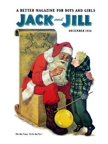 Secret for Santa - Jack and Jill, December 1954 Stretched Canvas Print