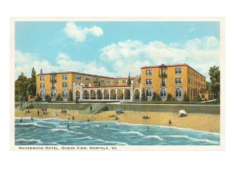 Nansemond Hotel, Ocean View, Norfolk, Virginia Art Print